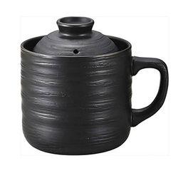 [카쿠세] 1인분 혼밥 전자렌지용 머그밥솥 블랙