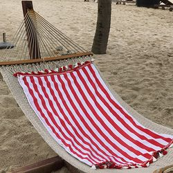 Stripe Red- Beach Towel