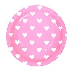 하트접시 23cm [핑크] 6입