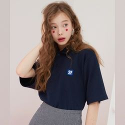2F  LOW LOGO NECK TOP [navy]