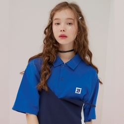 2F  LOW LOGO NECK TOP [blue]