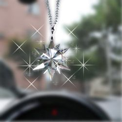 차량용 룸미러걸이 자동차 장식고리 별꽃