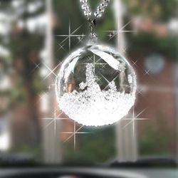 차량용 룸미러걸이 자동차 장식고리 눈꽃벨