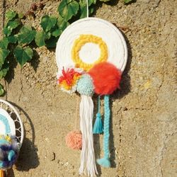 Knitted Dream Catcher Yellow