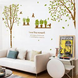 th032-화분이있는자작나무숲그래픽스티커