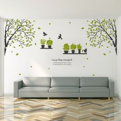 th033-화분이있는자작나무숲2그래픽스티커