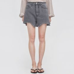 unique cutting denim short pants