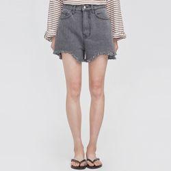 unique cutting denim short pants