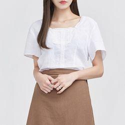 delicate lace linen blouse