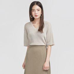 feminine mood half sleeve knit
