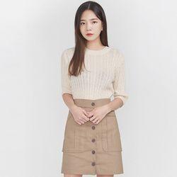 pale twist half knit
