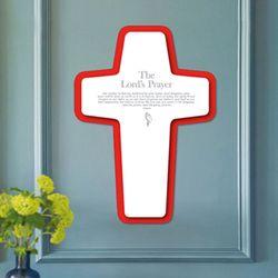 [벽걸이용모던십자가]Red Line Cross