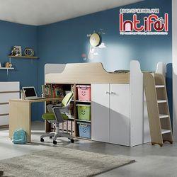 [인티펠] 캠프 책상형 벙커침대(매트별매) ECL048