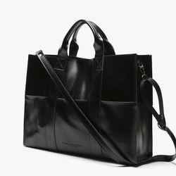 LEATHER 3WAY POCKET BAG (BLACK)