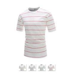 [쿨룩] 남성 코튼 단가라 라운드 반팔 티셔츠 CAS43
