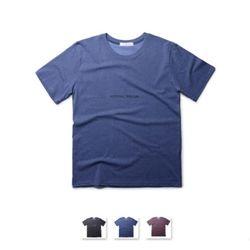 [쿨룩] 남성 영문 포인트 라운드 반팔 티셔츠 MZST70