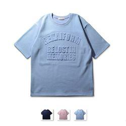 [쿨룩] 남성 볼록 디자인 반팔 티셔츠 MZST76