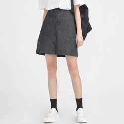 girlish front button skirt