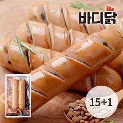 바디닭 볶은렌틸콩 닭가슴살 소시지 15+1팩 (100g)