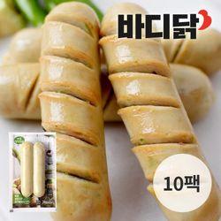 바디닭 매콤청양고추 닭가슴살 소시지 10팩 (100g)