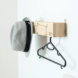 376. 인사이드옷걸이 - 원목 벽걸이 옷정리