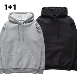 [2장세트][S] 무지 기모 후드티 - 후드 - 11컬러