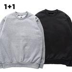 [2장세트][S] 무지 기모 맨투맨 - 맨투맨 - 11컬러