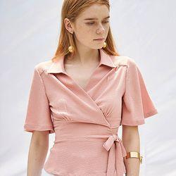 Wrap Blouse [Pink]