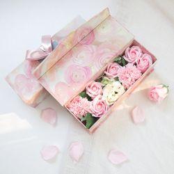 사랑해요 핑크 비누꽃 플라워용돈박스