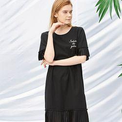 Pleats Dress [Black]
