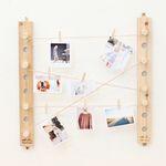 208. 생각하는대로사진걸이 - 삼나무 원목 벽장식