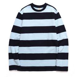 바리케이트 BIG STRIPE 티셔츠 스카이블루(BRAGTS202)