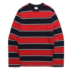 바리케이트 WIDE STRIPE 티셔츠 레드 (BRAGTS204)