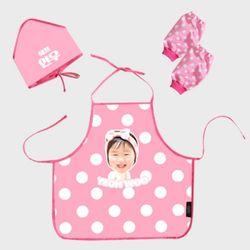 헬로우시리즈 - 포토 유아 방수앞치마(핑크)