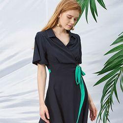 Wrap Dress [Navy]