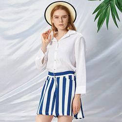 Stripe Short Pants [Blue]