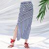 Belted Long Skirt [Stripe]