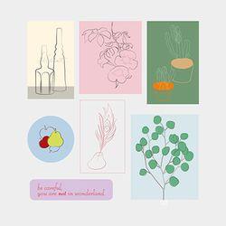 sticker pack. (flower&object)