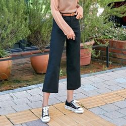 [로코식스] semi crop cotton pants팬츠