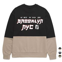 밴웍스 절개배색 NYC 스웨트셔츠 (VNAGTS202)