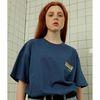 Caution tshirt-dark blue