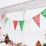 페이퍼 크리스마스 삼각배너 (패턴)