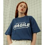 Fragile tshirt-dark blue