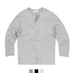 남자티셔츠 집업 헨리넥 긴팔 티셔츠