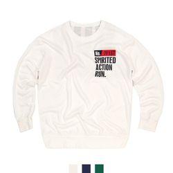남자맨투맨 런 프린팅 티셔츠