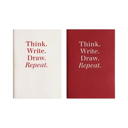POCKET NOTEBOOK - RED&IVORY