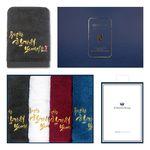 프리미엄 추석 4매 선물세트(쇼핑백) 기념수건 답례품