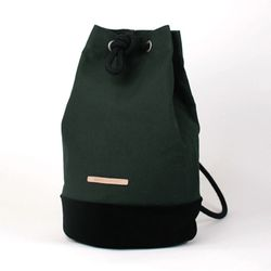 Suede Leather Bucket Bag - Deep Green(스웨이드백)