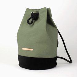 Suede Leather Bucket Bag - Light Khaki(스웨이드백)