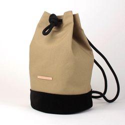 Suede Leather Bucket Bag - Beige(스웨이드백)